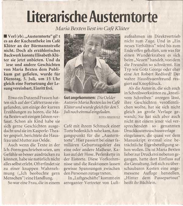 Artikel Autorin Maria Bexten